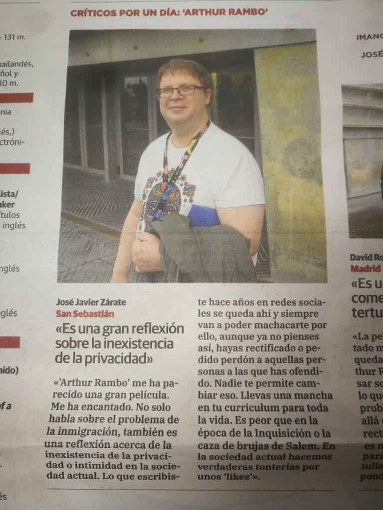 La opinión de este fantástico reportero le pareció interesante a El Diario Vasco