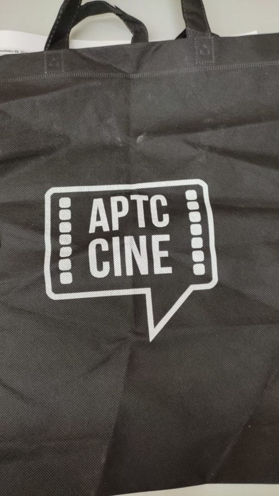 La tote bag que me regaló la gente de APTC Cine en esta primera jornada festivalera