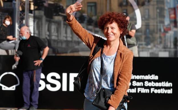 La directora y guionista española Icíar Bollaín, llegando al Festival Internacional de Cine de San Sebastián