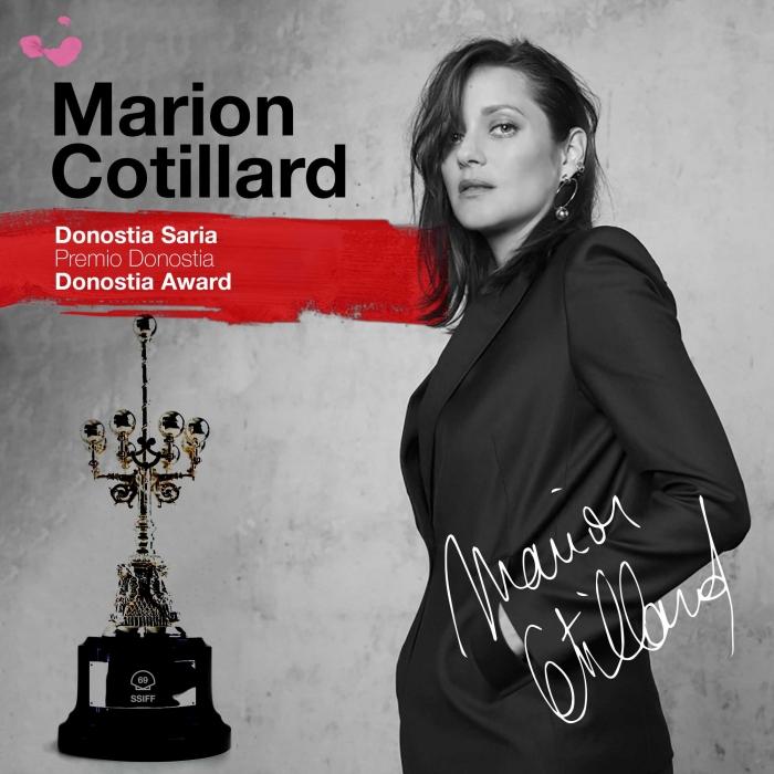 Marion Cotillard, Premio Donostia en el 69 SSIFF