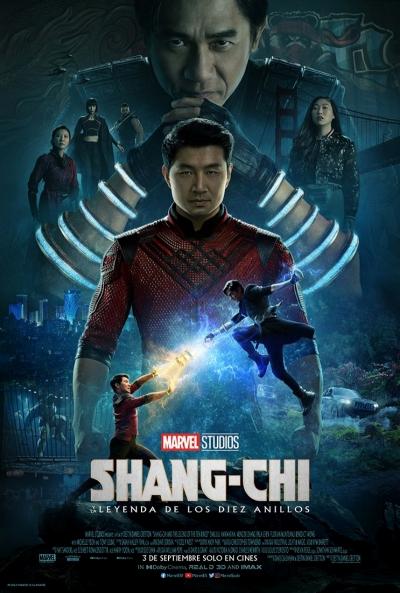 Póster de Shang-Chi y la leyenda de los Diez Anillos. El blockbuster entre los estrenos del 3 de septiembre