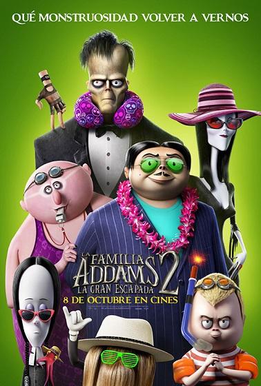 Póster de La familia Addams 2 - La gran escapada. La animación entre los estrenos del 8 de octubre