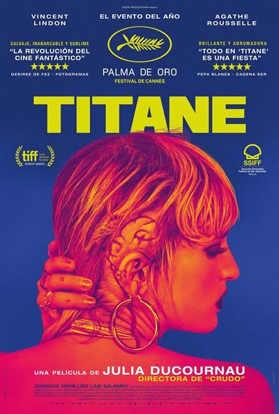 Póster de Titane, la triunfadora de Cannes en los estrenos del 8 de octubre